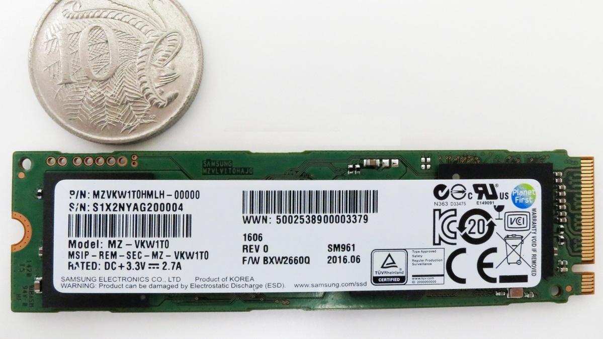 Samsung SM961 M.2 SSD: Preise und Spezifikationen kurz vor Markteinführung