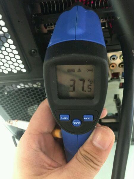 37,5 °C im Leerlauf