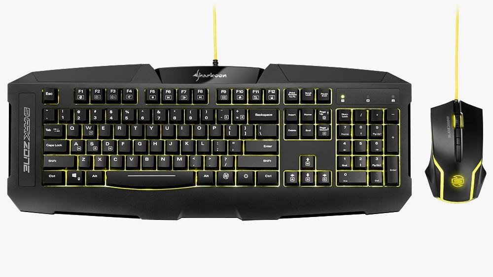 Sharkoon Shark Zone GK15: Tastatur und Maus mit LEDs für knapp 30 Euro