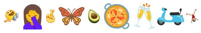 Auswahl der neuen Emoji