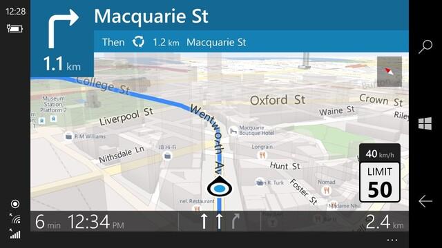 Turn-by-Turn-Navigation im Landscape-Modus