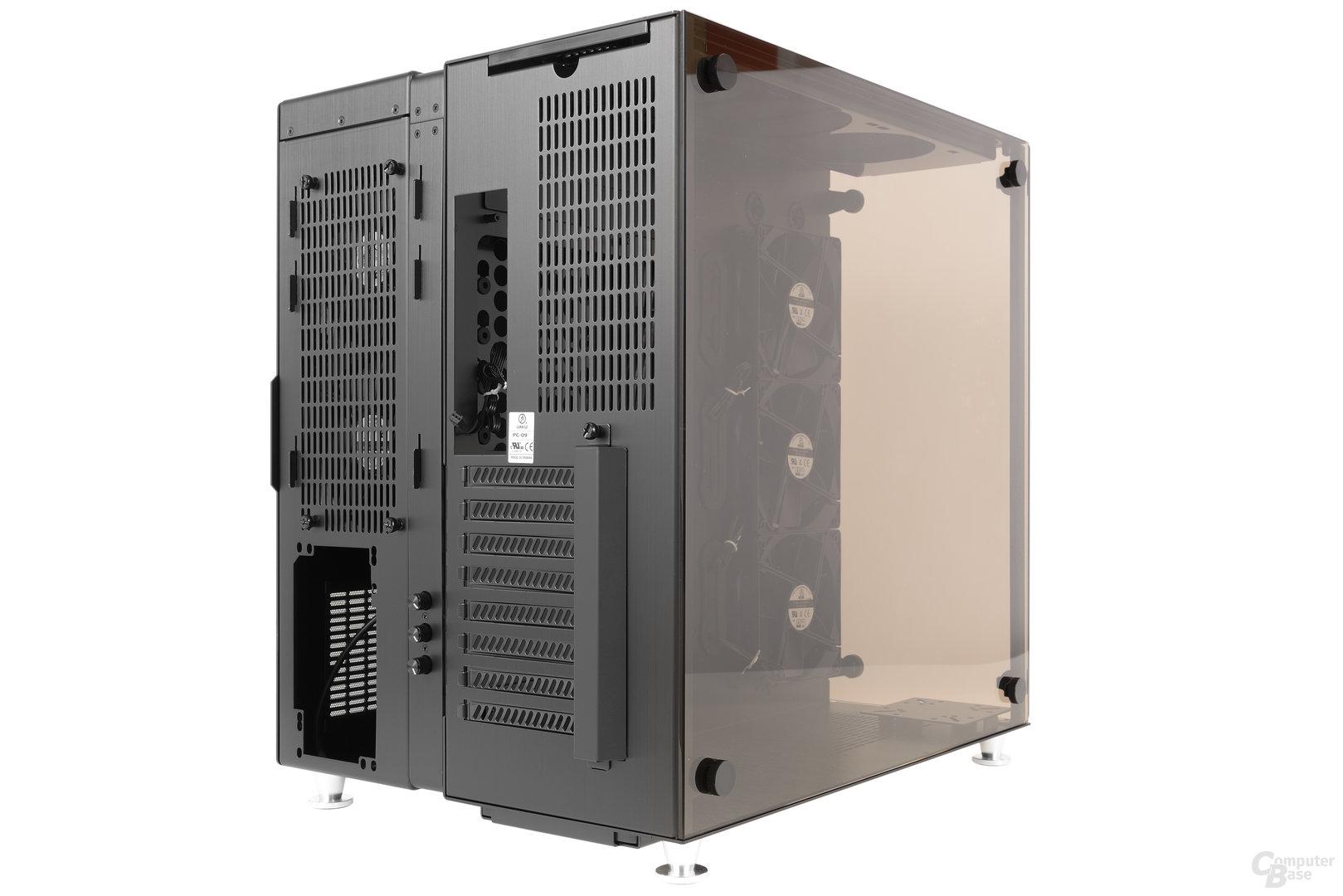 Lian Li PC-O9 – Seitliche Heckansicht