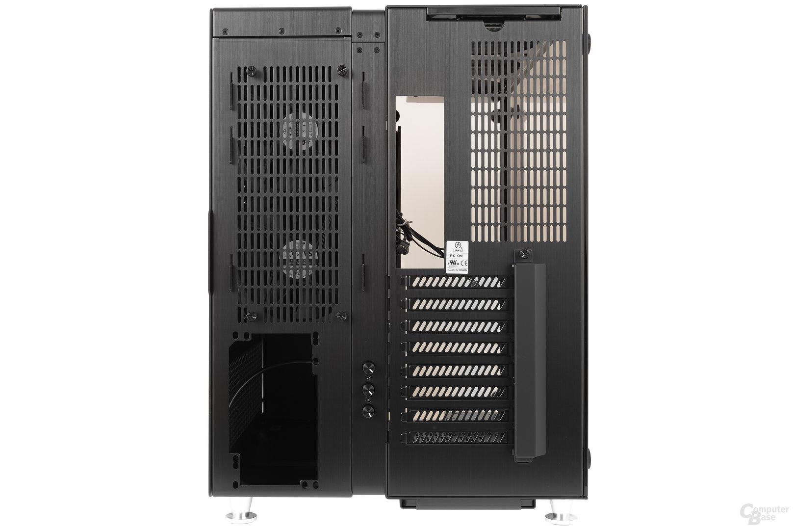 Lian Li PC-O9 – Heckansicht