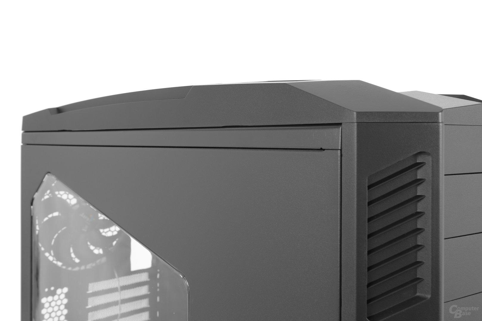 Aerocool XPredator II – Die Kunststoffanbauten haben kleinere Verarbeitungsmängel