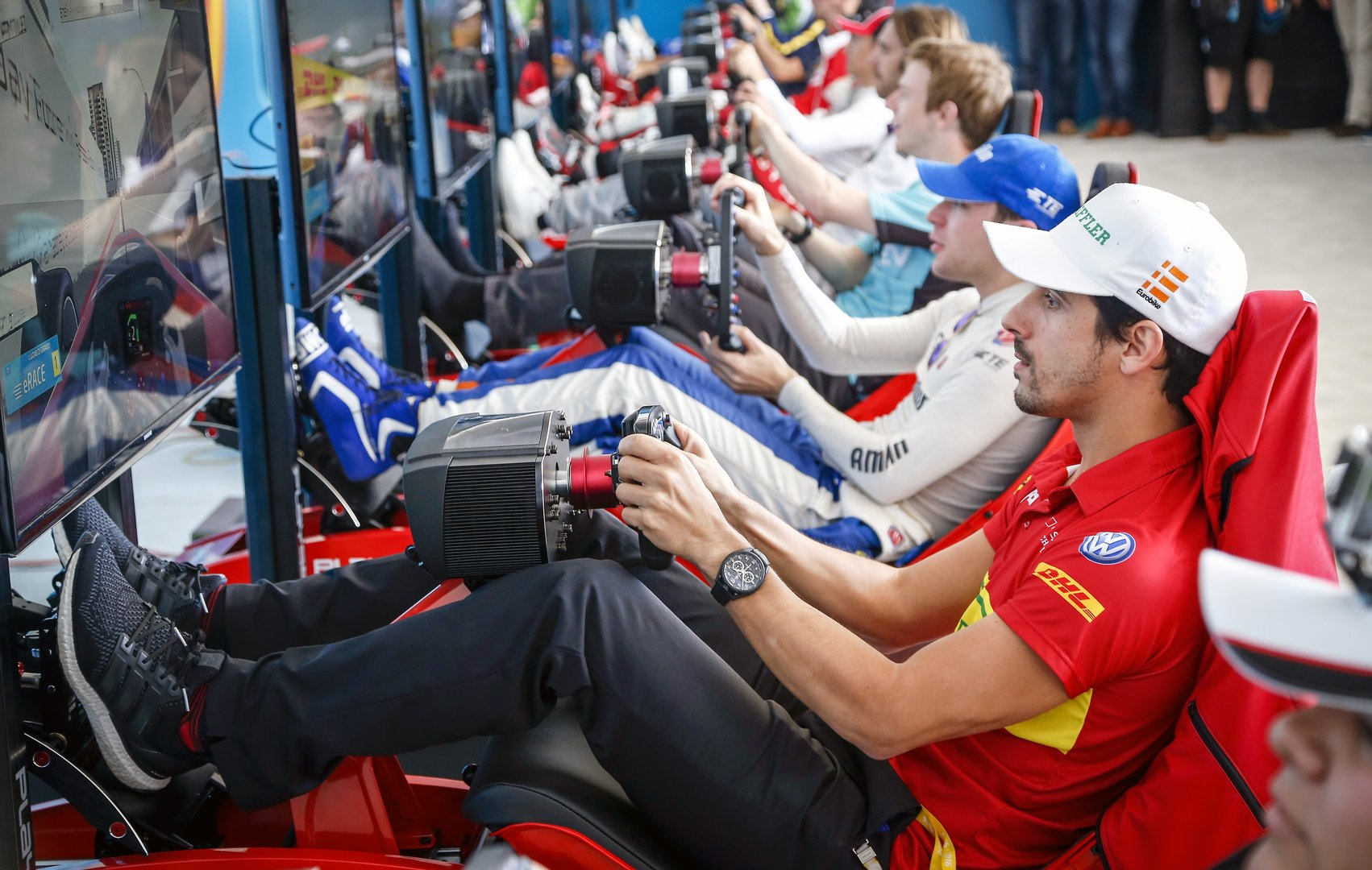eSport-Veranstaltung im Rahmen eines Formel-E-Rennens