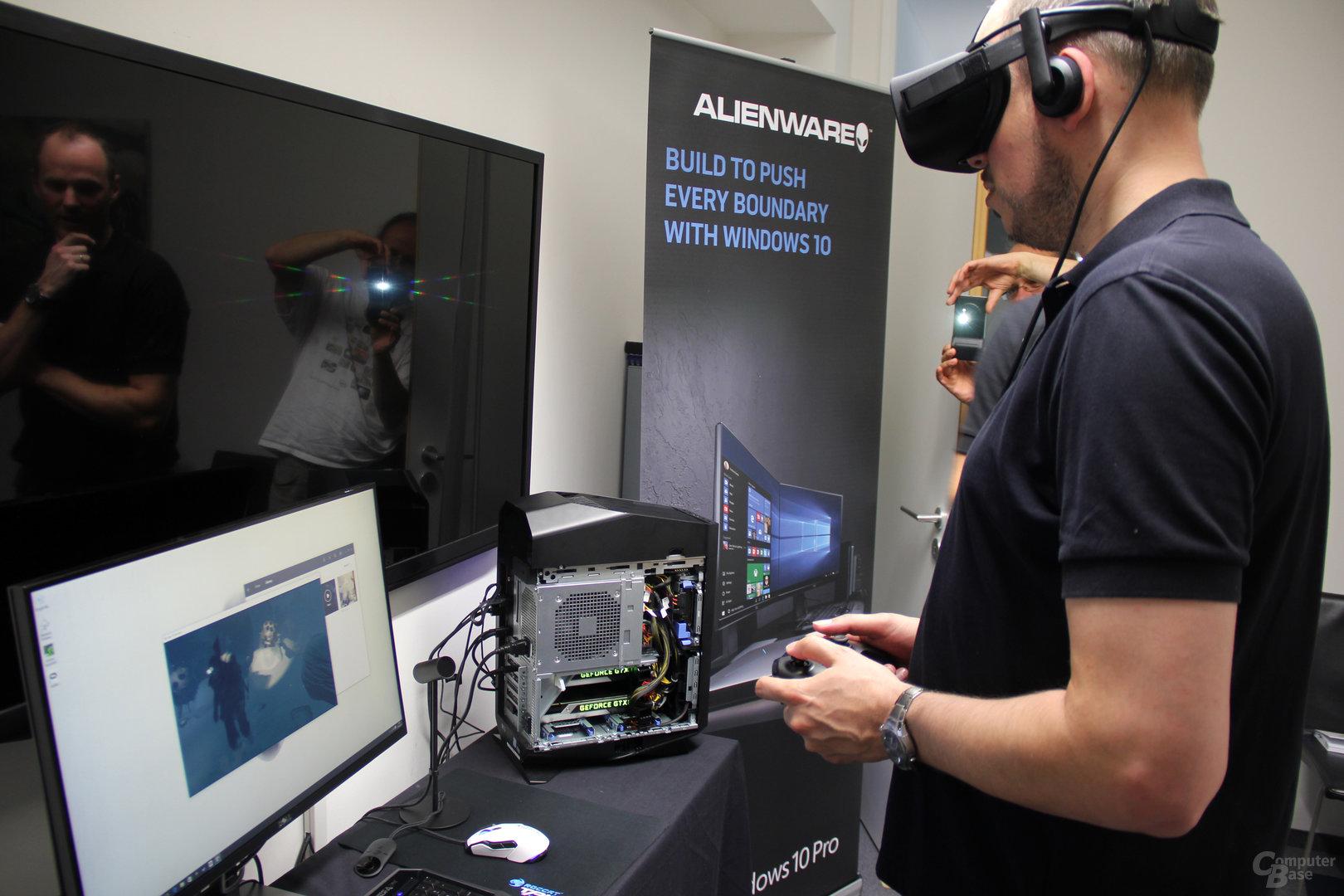 Oculus Rift an Aurora-PC mit Dual-Grafik