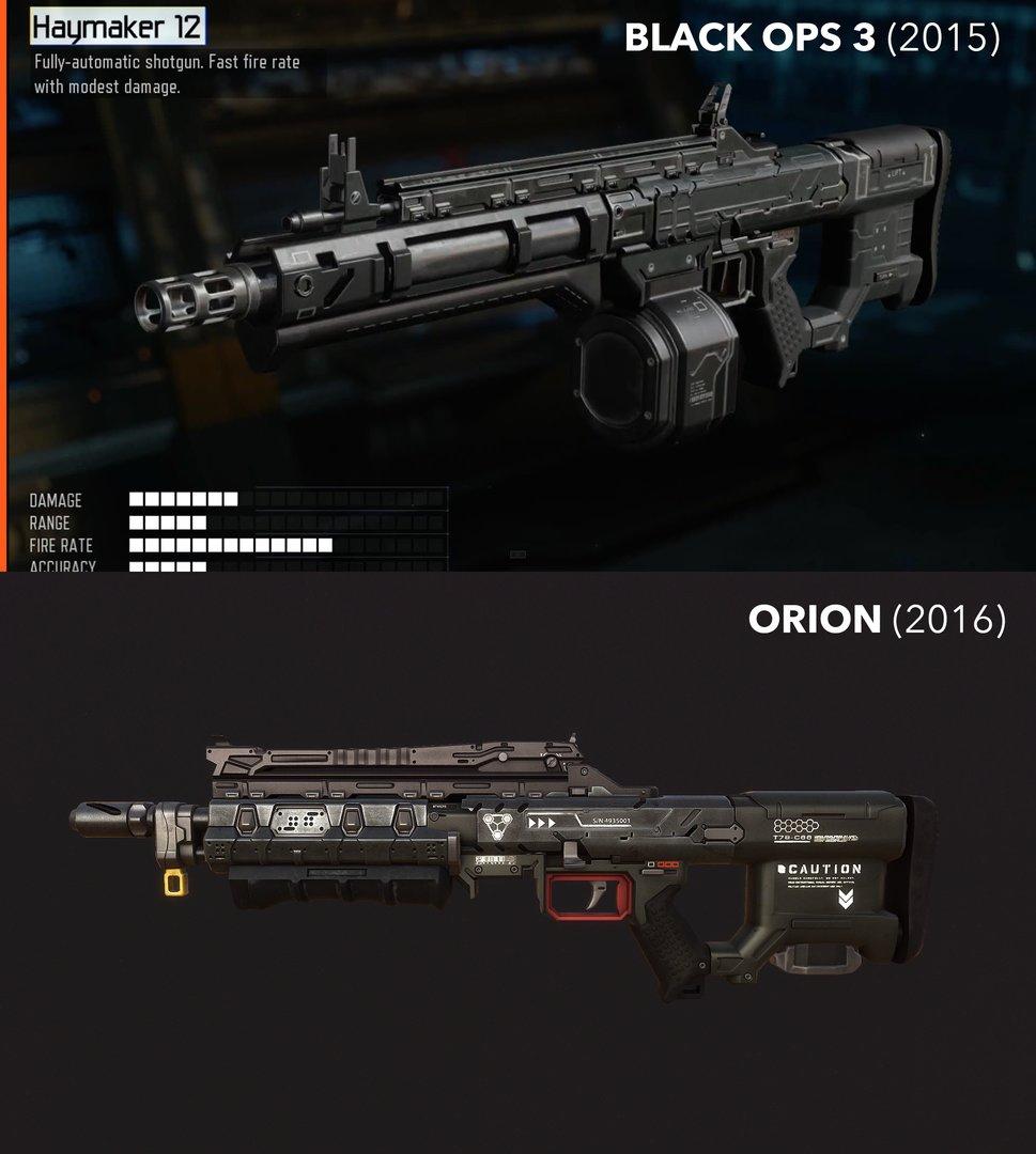 Waffenvergleich aus Sicht der Orion-Macher