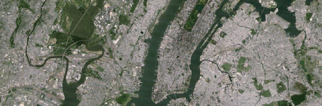 New-York-Aufnahme mit Landsat 7