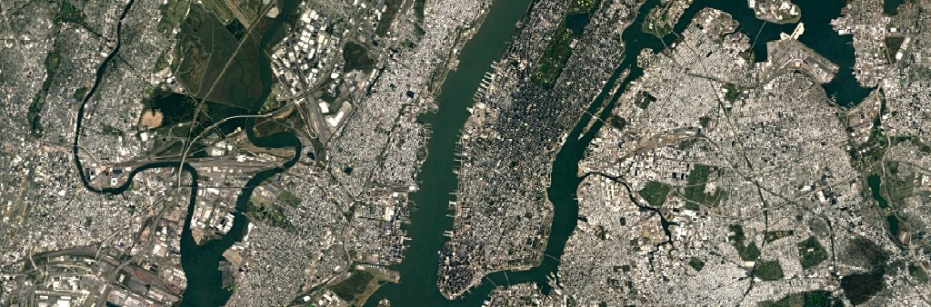 New-York-Aufnahme mit Landsat 8