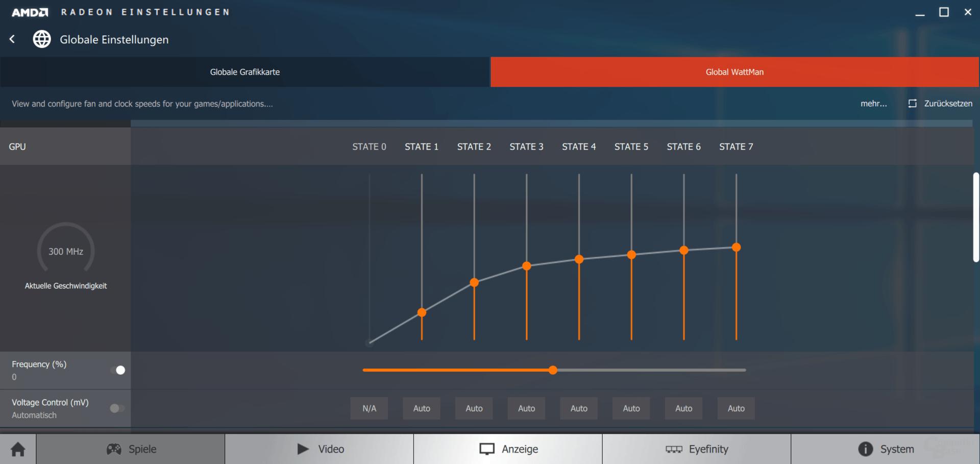 AMD WattMan: GPU-Übertakten mit P-States und Spannung