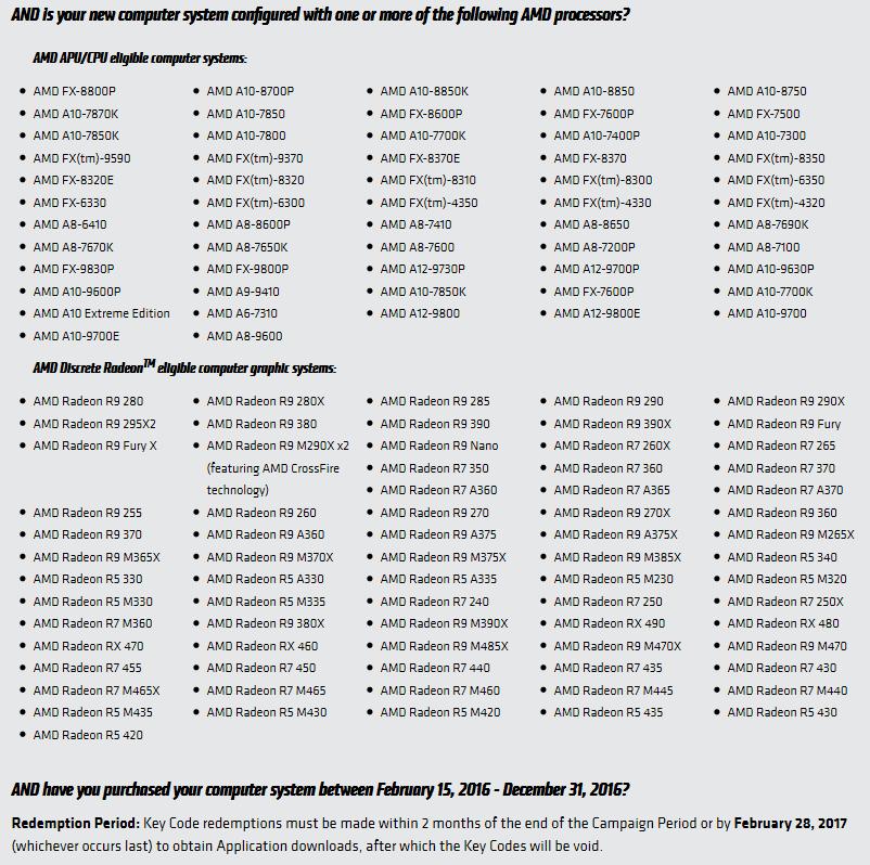Offizielle Liste mit RX 490 und weiteren neuen Produkten