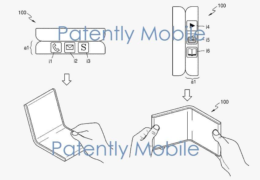 Konzept eines faltbaren Smartphones