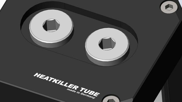 Watercool Heatkiller Tube: Reservoir bald mit Anschlüssen im Deckel