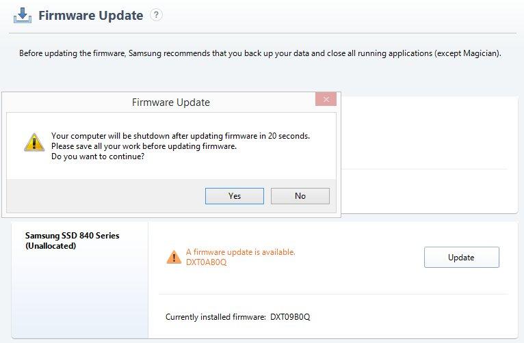"""Firmware gegen """"Altersschwäche"""" für die Samsung SSD 840"""
