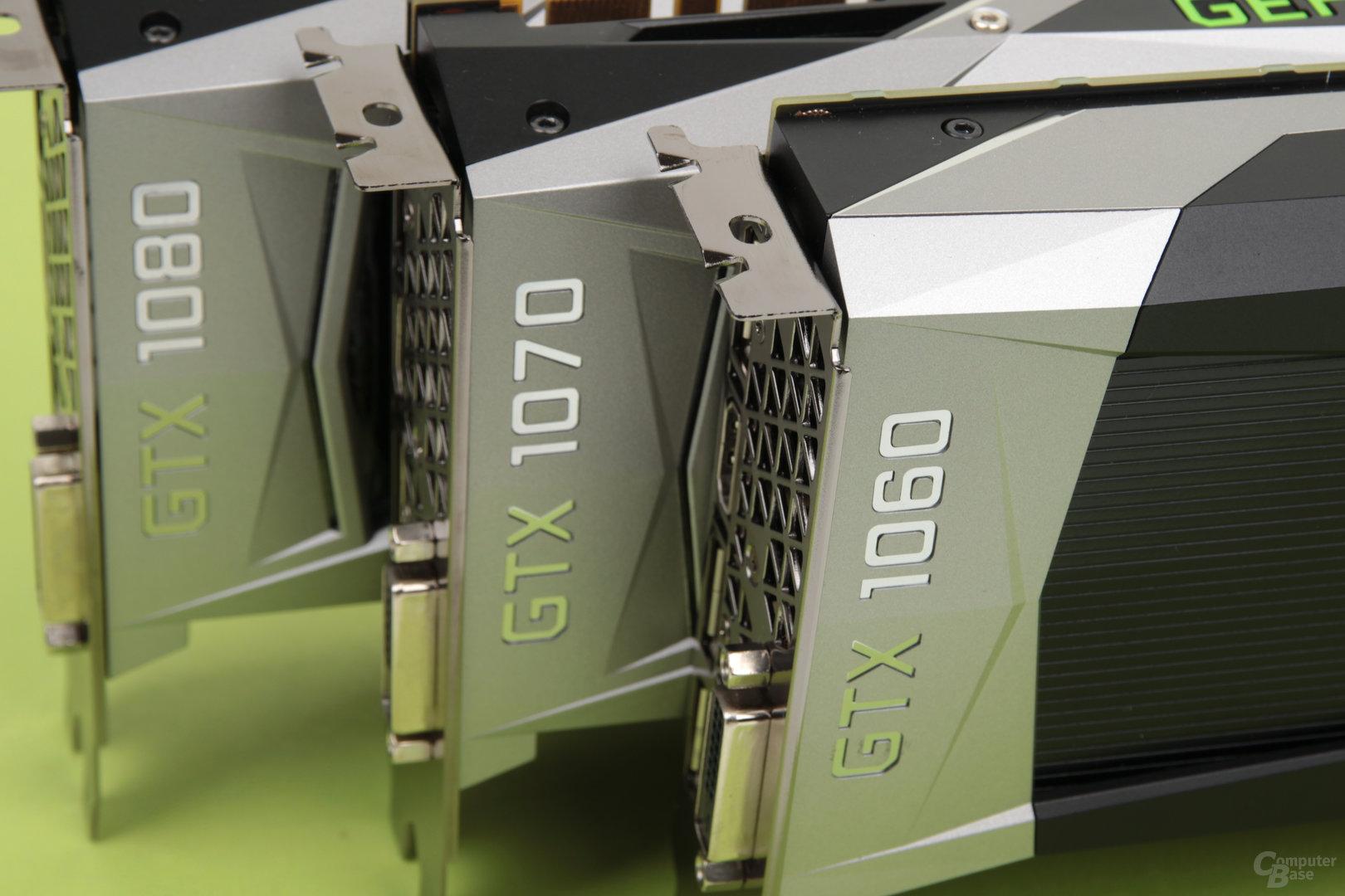 GeForce GTX 1060 vor GTX 1070 und GTX 1080