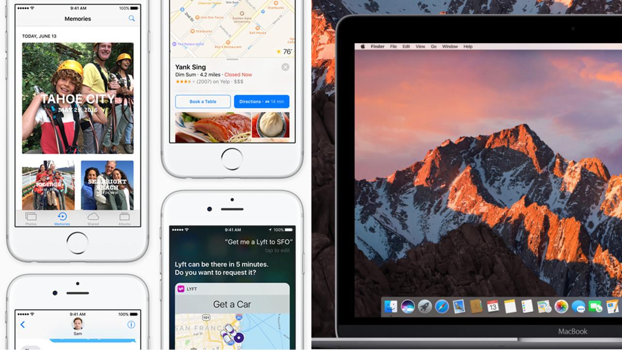 Apple: iOS 10 und macOS 10.12 Sierra als Beta für jedermann