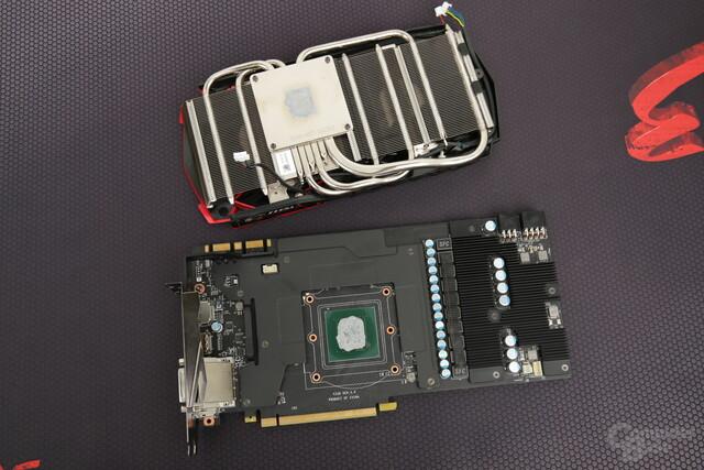 Kühlsystem und PCB der MSI GeForce GTX 1080 Gaming X