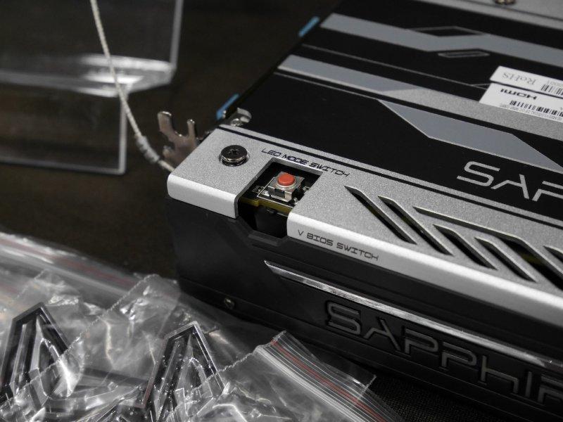 RX 480 Nitro: Schalter für BIOS und LEDs