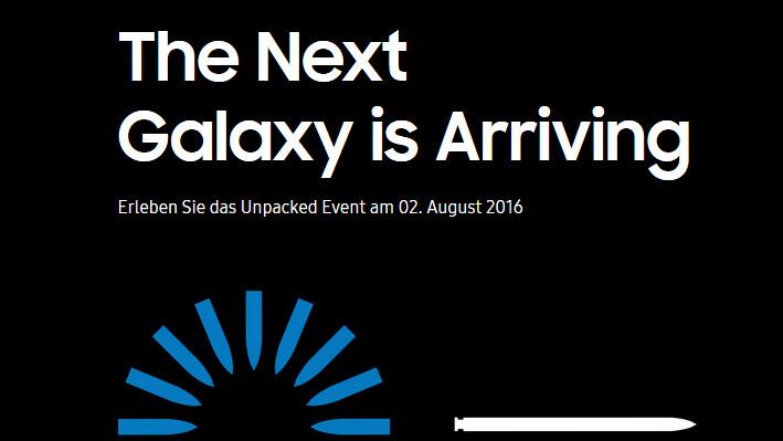 Galaxy Note 7: Samsung lädt zum Unpacked-Event am 2.August