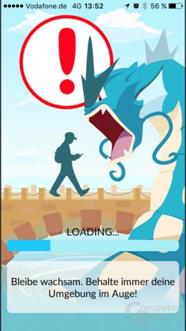 Pokémon Go – Warnhinweis