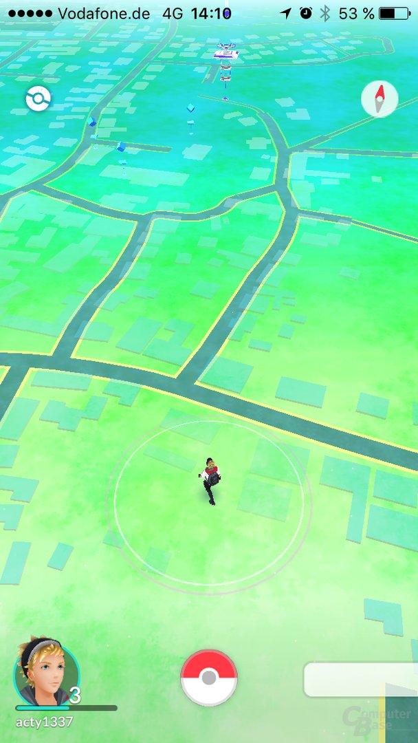 Pokémon Go – Umgebung mit Arena und Shops