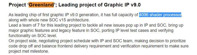 Project Greenland im Linkedin-Profil eines AMD-Mitarbeiters