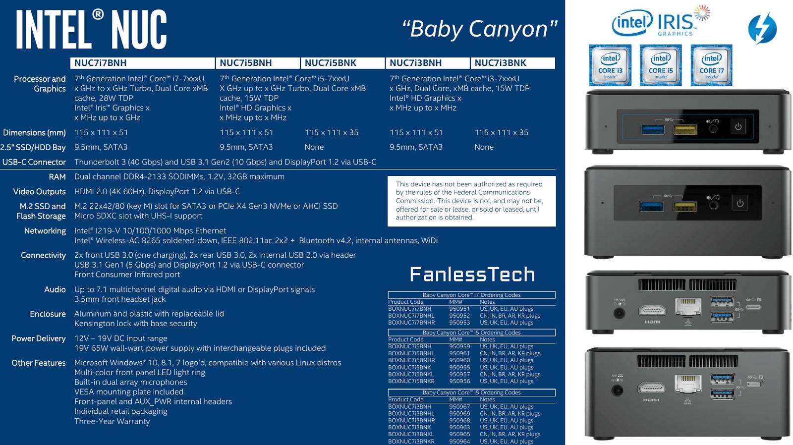 """Intel NUC """"Baby Canyon"""" mit Kaby Lake"""