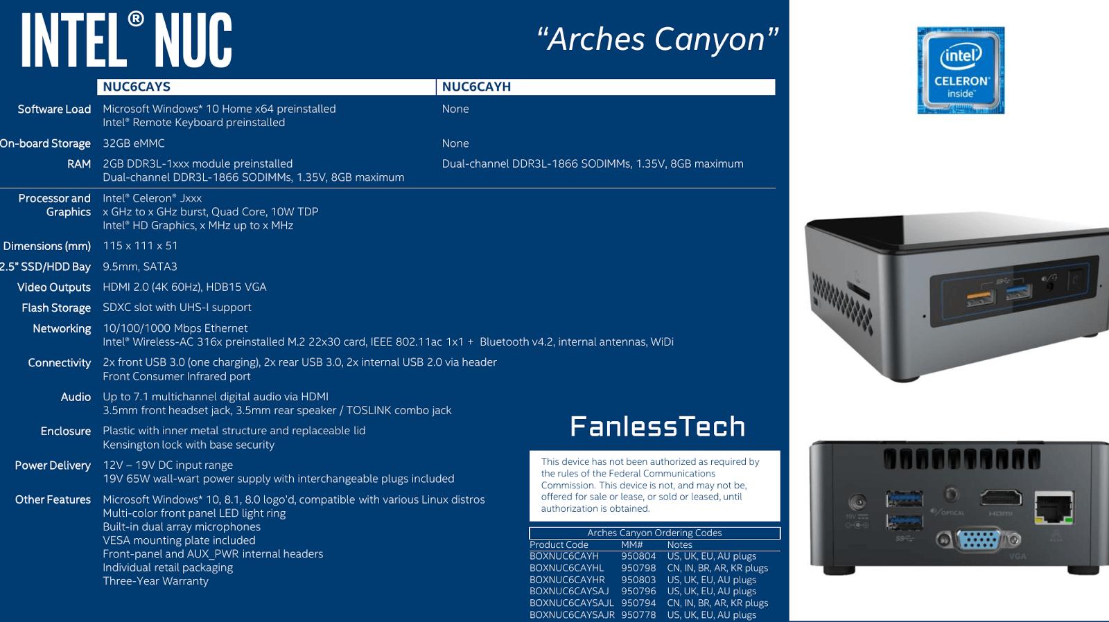 """Intel NUC """"Arches Canyon"""" mit Apollo Lake"""