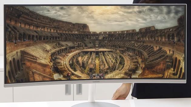 "Samsung CF791: Gewölbte 34"" mit UWQHD, VA-Panel, Quantum Dots, 100 Hz"