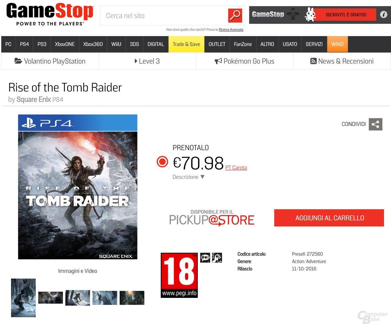 Laut Händlerkette GameStop erscheint das Spiel am 11. Oktober