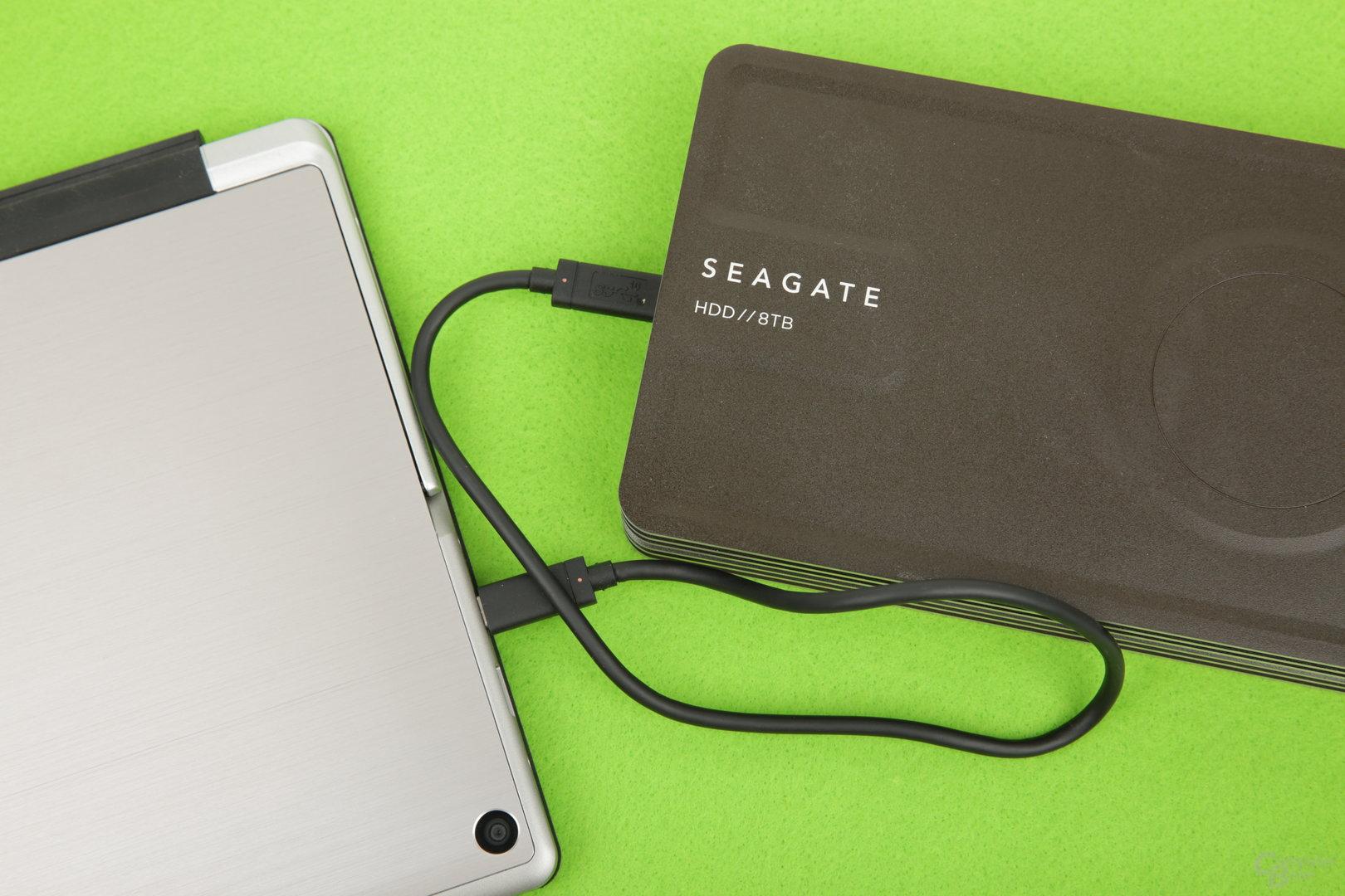 Seagates externe innov8 mit 8 TB will nicht starten