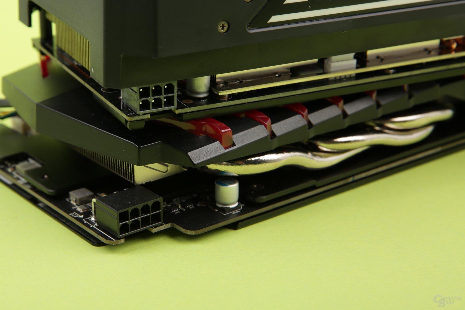 Palit bietet ein Mal 6 Pin, MSI ein Mal 8 Pin