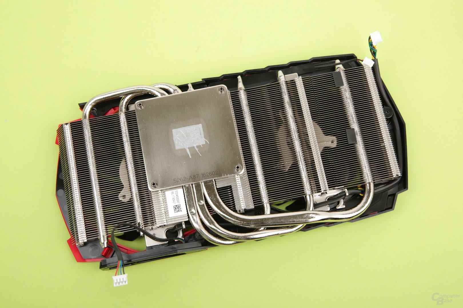 Kühlerrückseite der MSI GeForce GTX 1060 Gaming