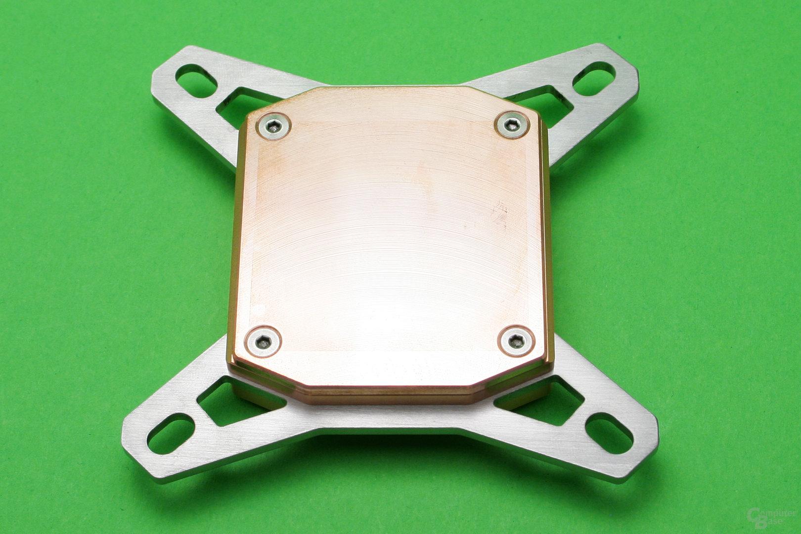 Watercool Heatkiller IV Pro Pure Copper: Unterseite