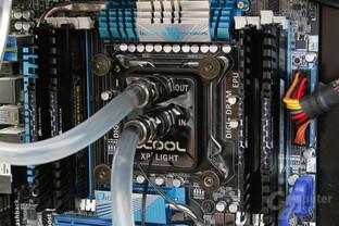 Alphacool NexXxos XP3 Light V.2 im Testsystem