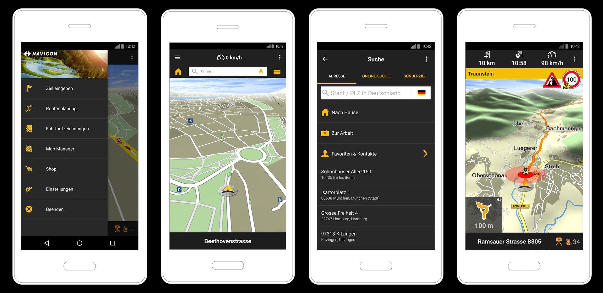 Das neue Garmin Navigon für Android