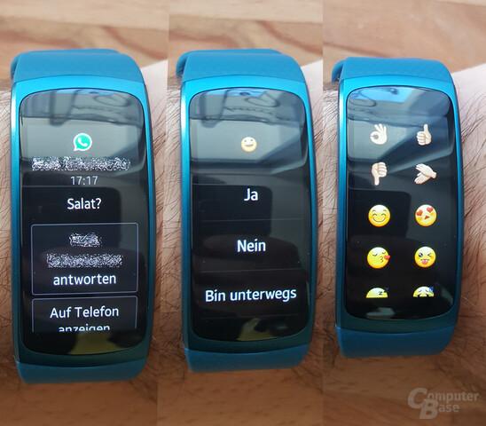 Samsung Gear Fit2 – Benachrichtigungen