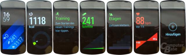 Samsung Gear Fit2 – Menüführung