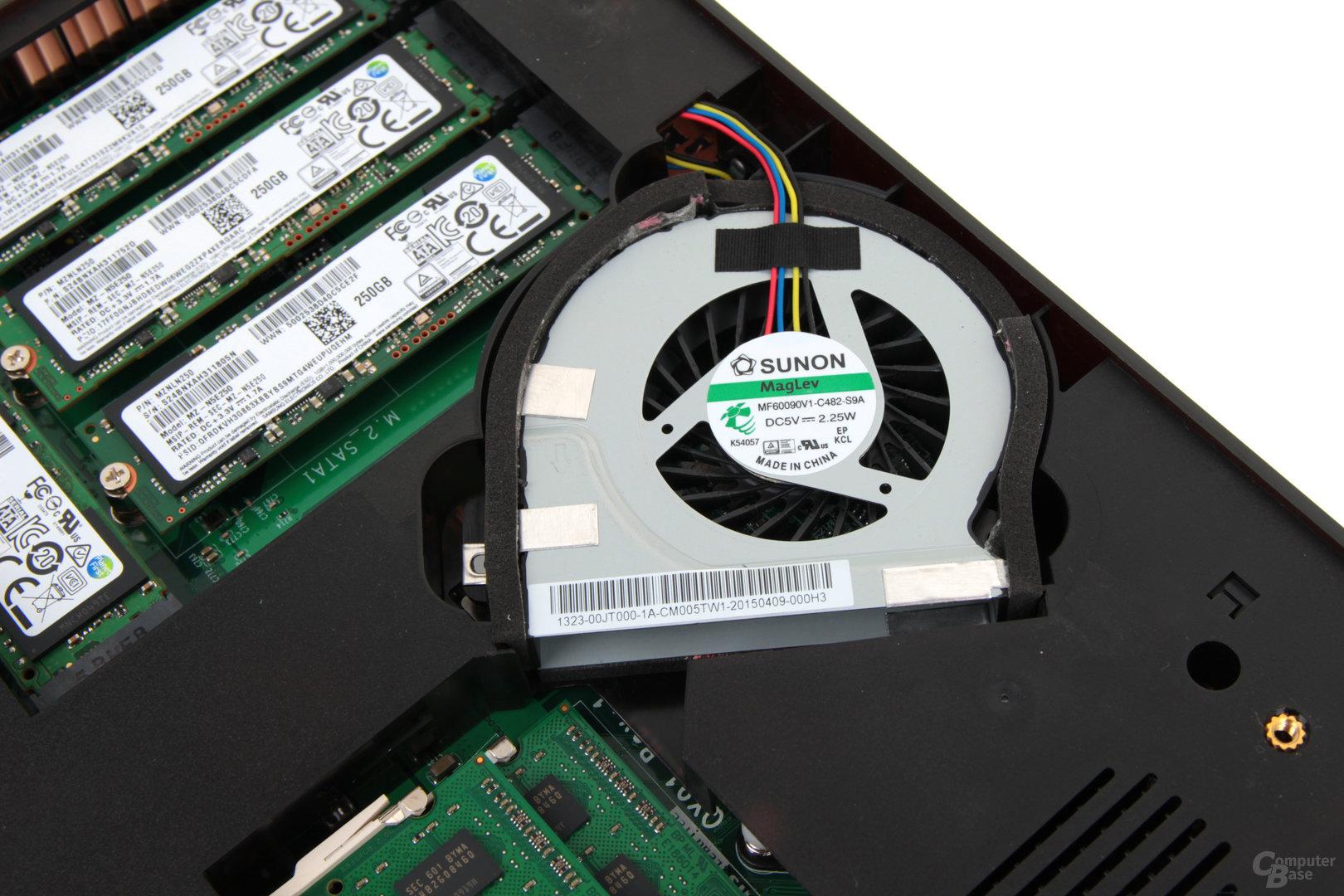 QNAP TBS-453A – aktive Kühlung mit 1.500 U/min