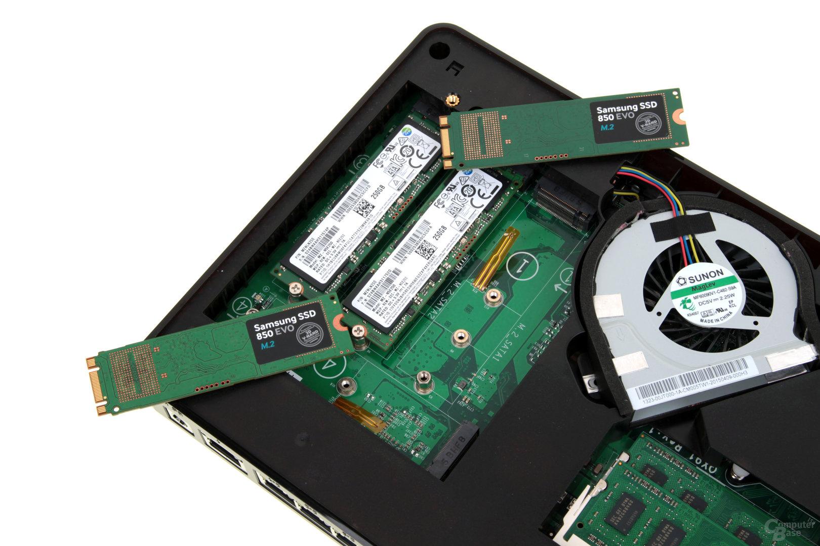 QNAP TBS-453A – Drei Längen bei M.2-SSDs werden unterstützt