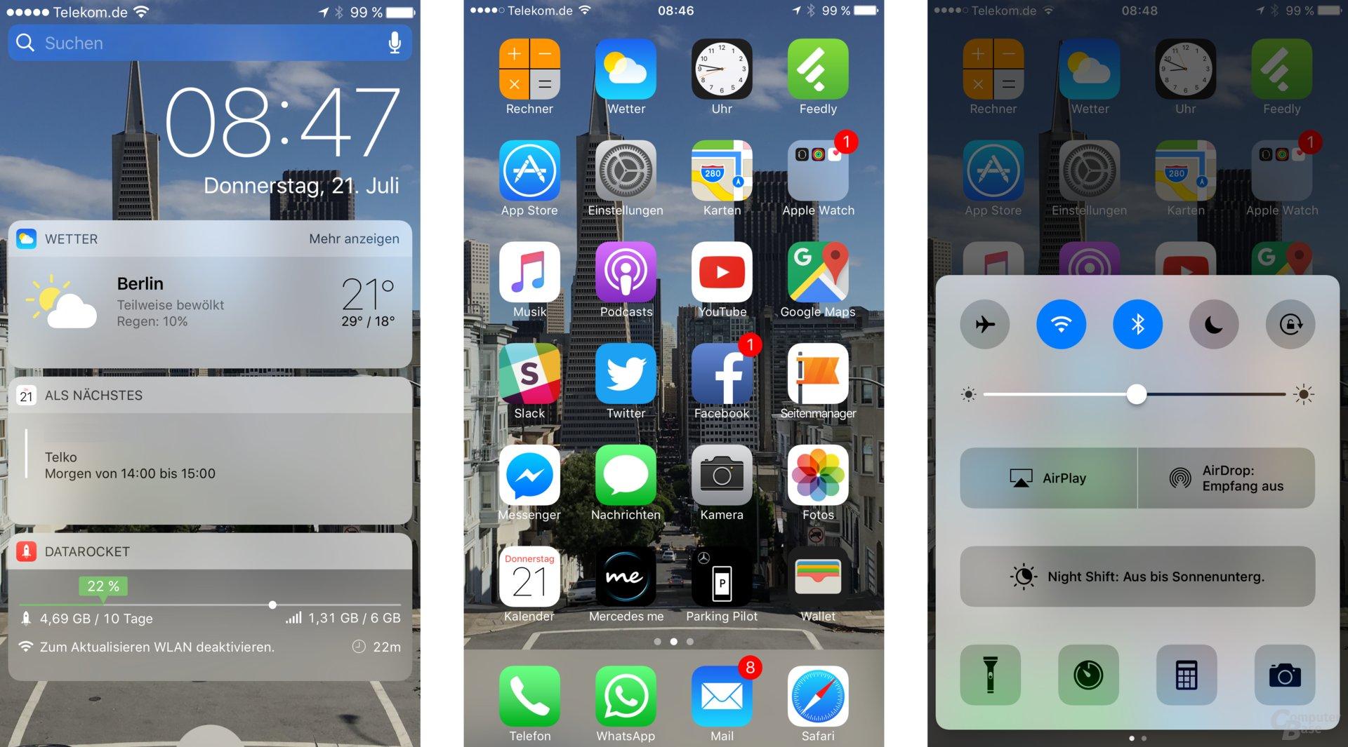 Das neue Design von iOS 10