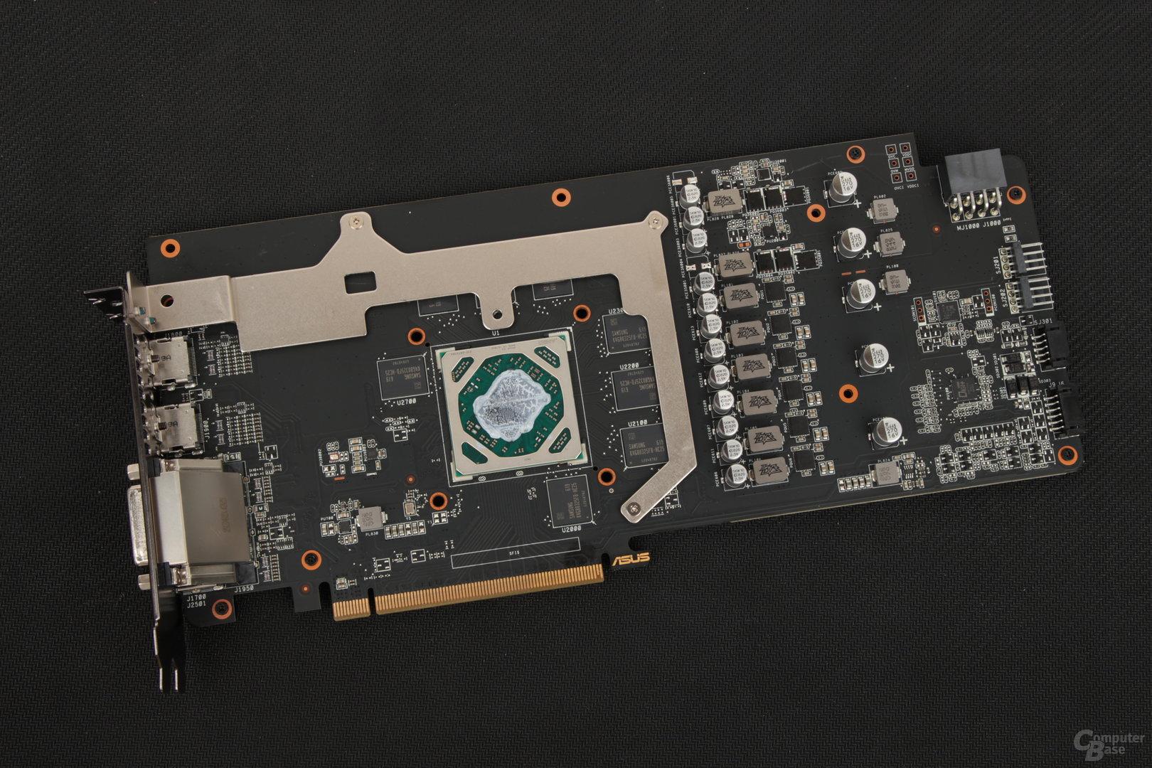 Das PCB der Asus Radeon RX 480 Strix