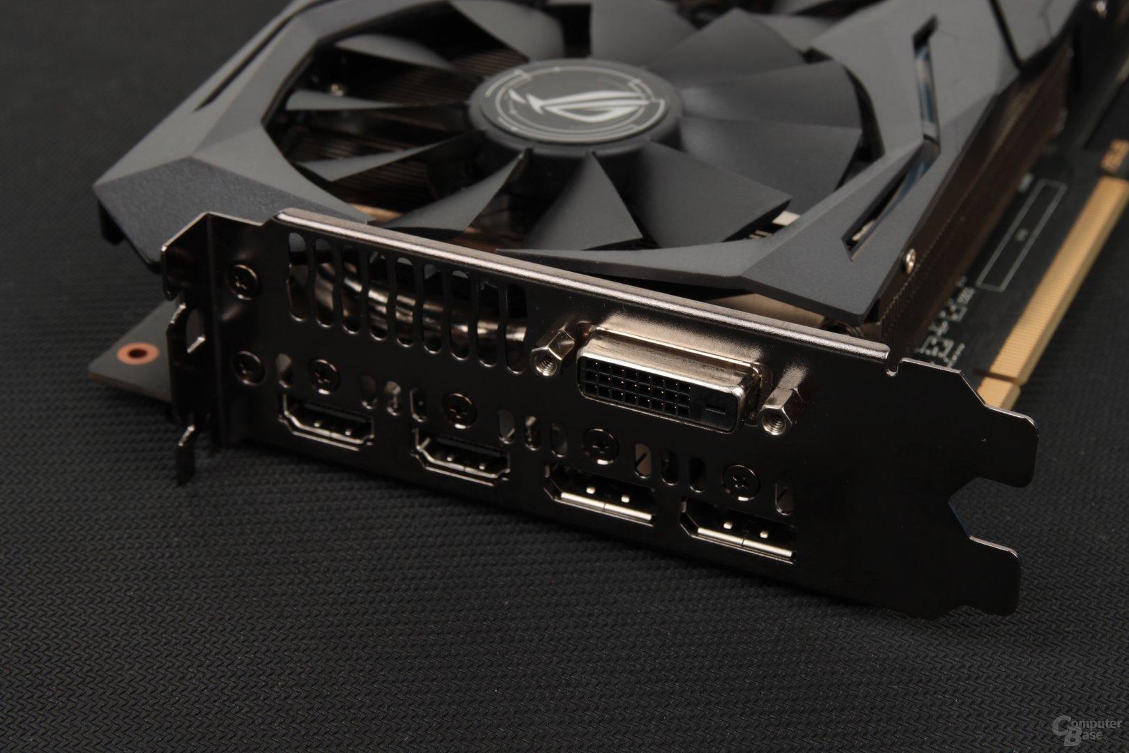 Auch bei der Radeon RX 480 setzt Asus auf zwei Mal HDMI für VR