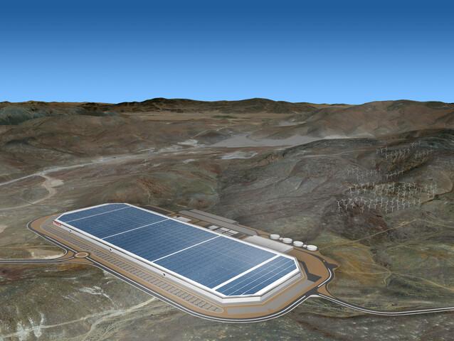 Geplante Gigafactory von Tesla