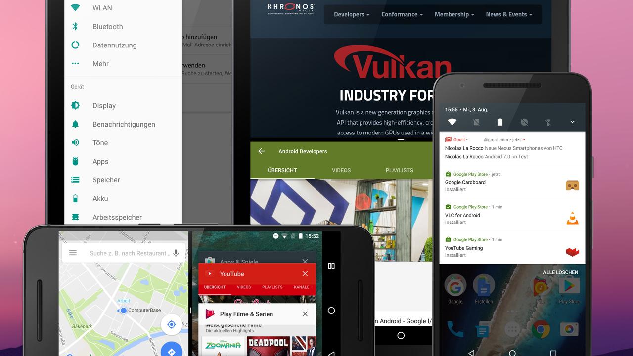 Android 7.0 Nougat im Test: Googles Mobil-Betriebssystem war noch nie so produktiv