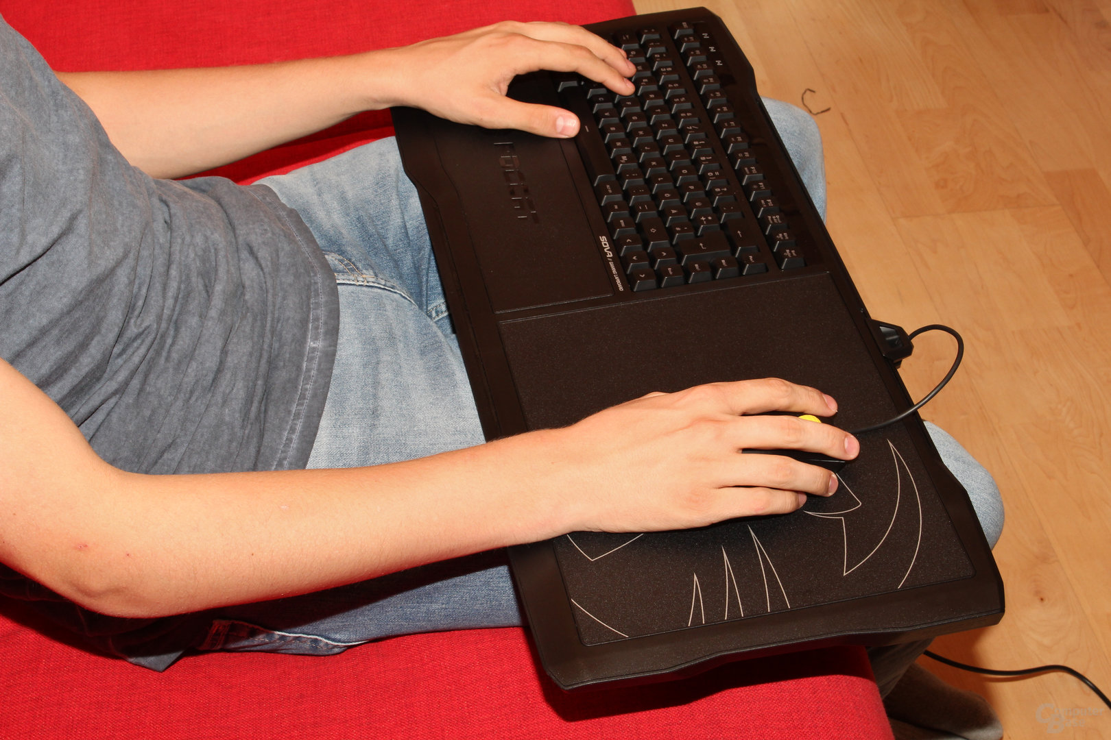 Armauflagen braucht das Lapboard nicht zwingend