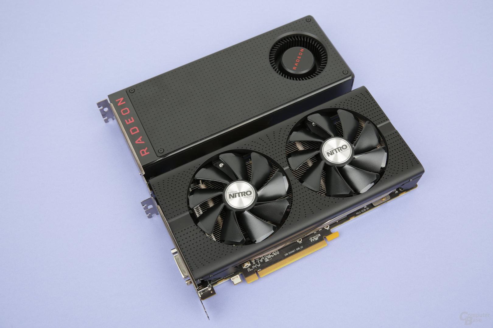 RX 480 Referenz (Oben) vs. Sapphire (Unten)