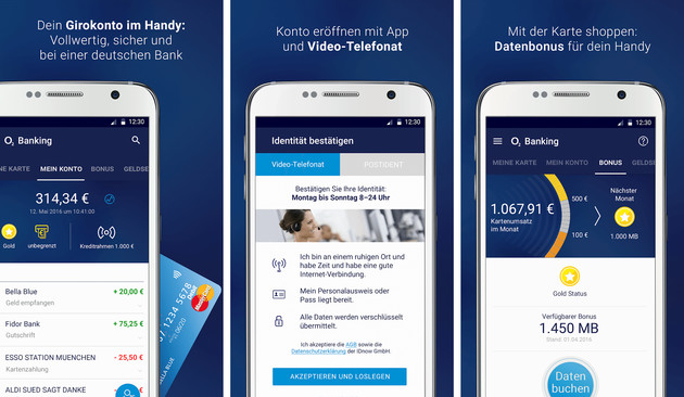 O2 Banking im Überblick (Android)