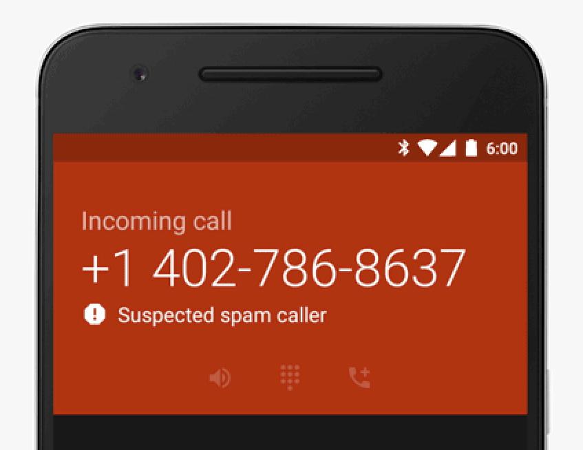 Warnmeldung bei vermuteten Spam-Anrufen