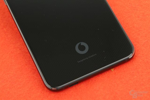 Dezentes Vodafone-Logo auf der Rückseite